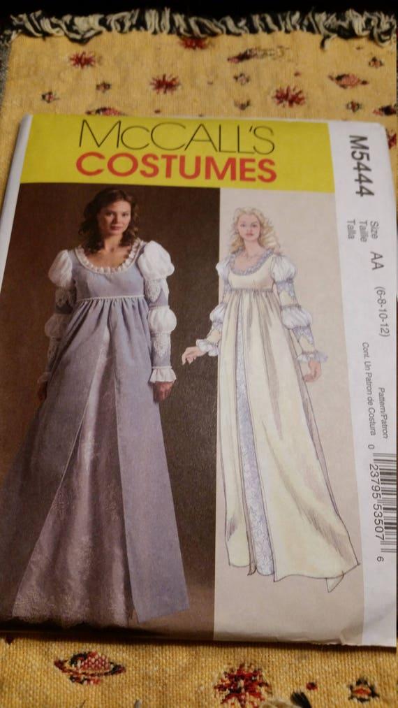 Wedding Gown Dress Pattern Patron Mccalls Costume Pattern Etsy