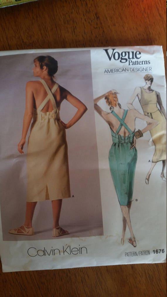 Calvin Klein dress pattern Vogue pattern summer dress pattern Vintage Vogue American Designer sewing pattern