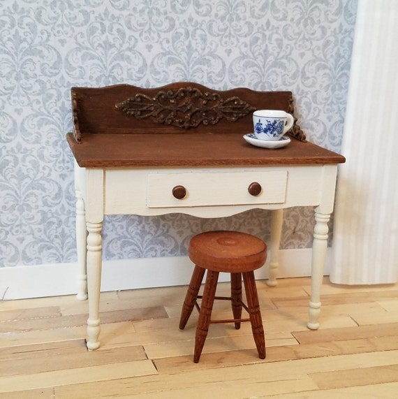 Incredible Miniature Desk Miniature Vanity Writing Desk Table Small Desk Dollhouse Furniture Dollhouse Diorama Room Box Gmtry Best Dining Table And Chair Ideas Images Gmtryco