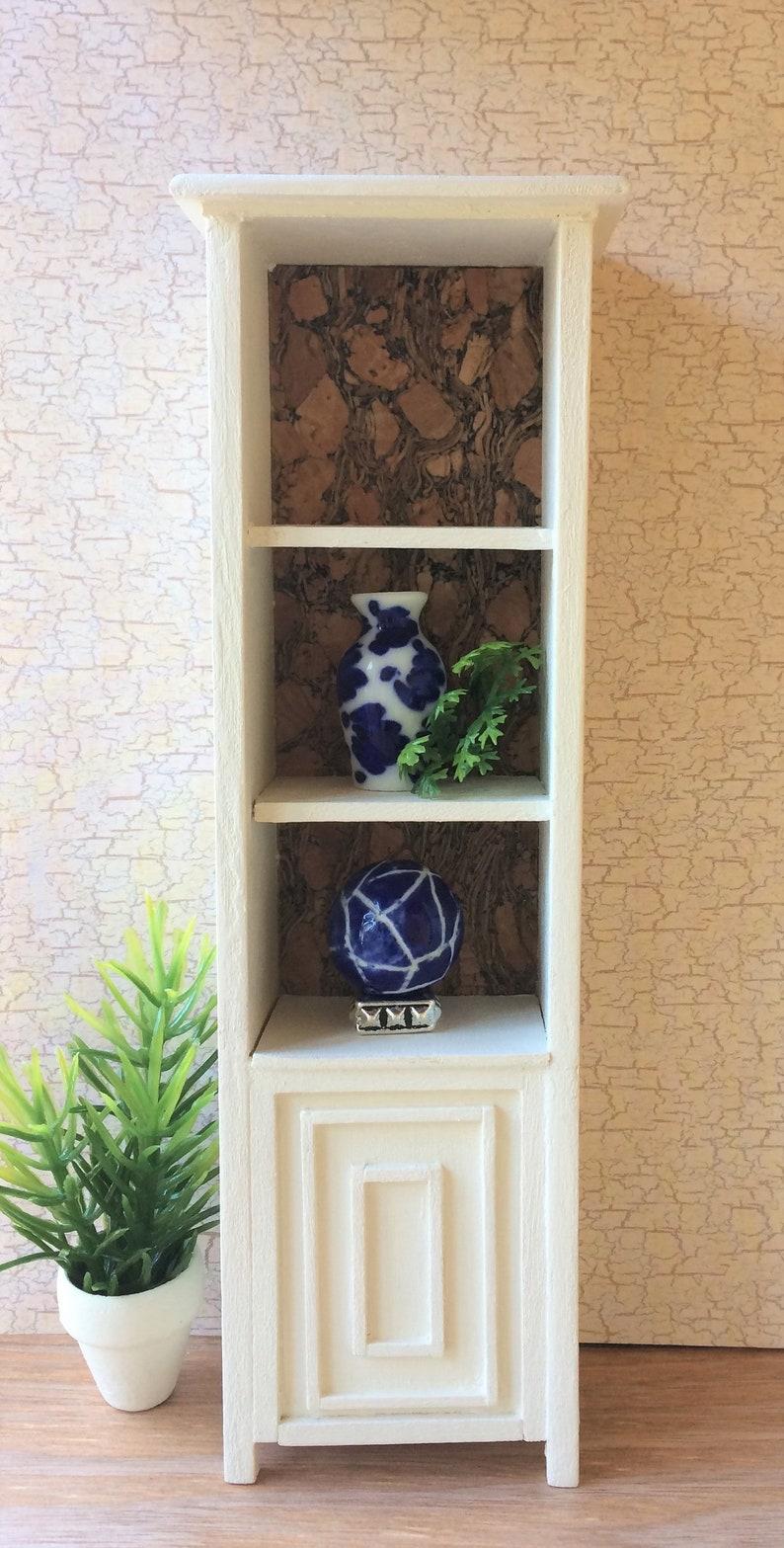 Miniature Bookcase Miniature Curio Small Bookcase Storage Unit Display Case Dollhouse Furniture Room Box Diorama