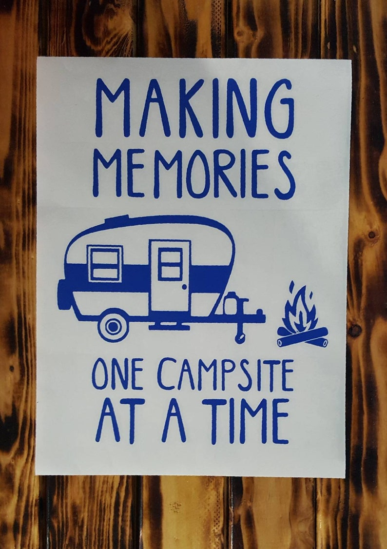camping decal camping bucket camping gift cornhole decal sticker Making memories retro camper vinyl decal camper decor RV sticker
