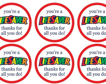 picture relating to You're a Lifesaver Printable known as Lifesaver Etsy