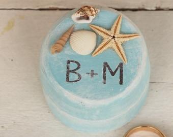 Beach wedding ring box