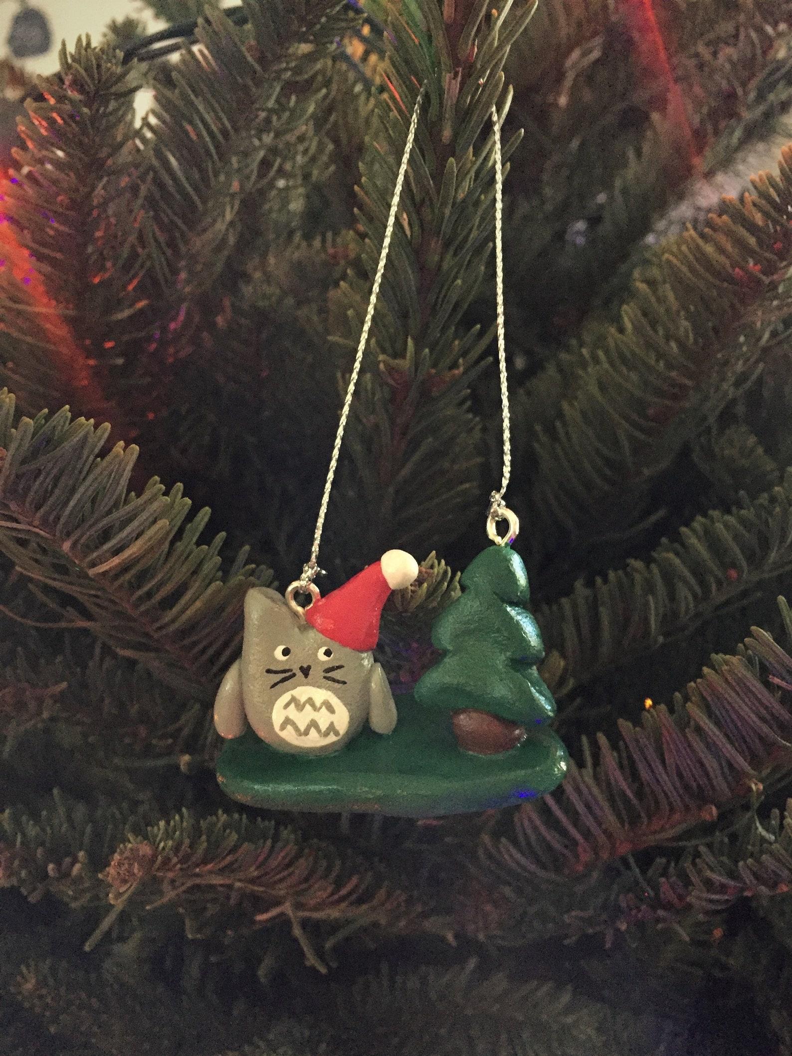 Totoro Christmas Ornament || Miyazaki Fan Art || Studio Ghibli || Handmade