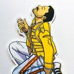 Freddie Mercury Vinyl Sticker - Waterproof Vinyl Decal