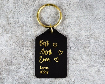 DTK-M-B Personalized Matte Black Dog Tag Keychain Gift for Him Mens Gift for Husband Personalized Guy Gift 5th Anniversary Gift for Men