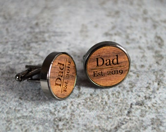 New Baby Gift Mens Personalised Custom Baby Handprint Photograph Photo Image Cufflinks Christening Gift New Dad Father/'s Day Gift
