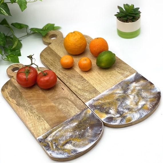Wooden Paddle Cutting Board, Resin Art Chopping Board, Resin Cheese Board, Chopping Board Long Cheese board Housewarming Gift Wedding Gift