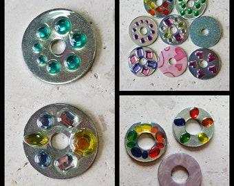 Washer pendants etsy washer pendants aloadofball Images