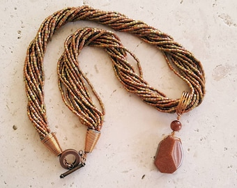 Copper-tone necklace