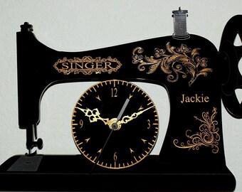 Singer Sewing Machine Clock