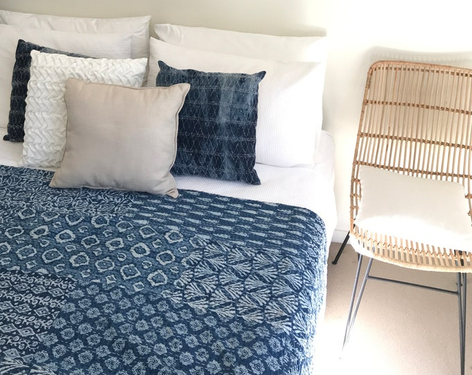 The Patchwork - Blue - Square Throw