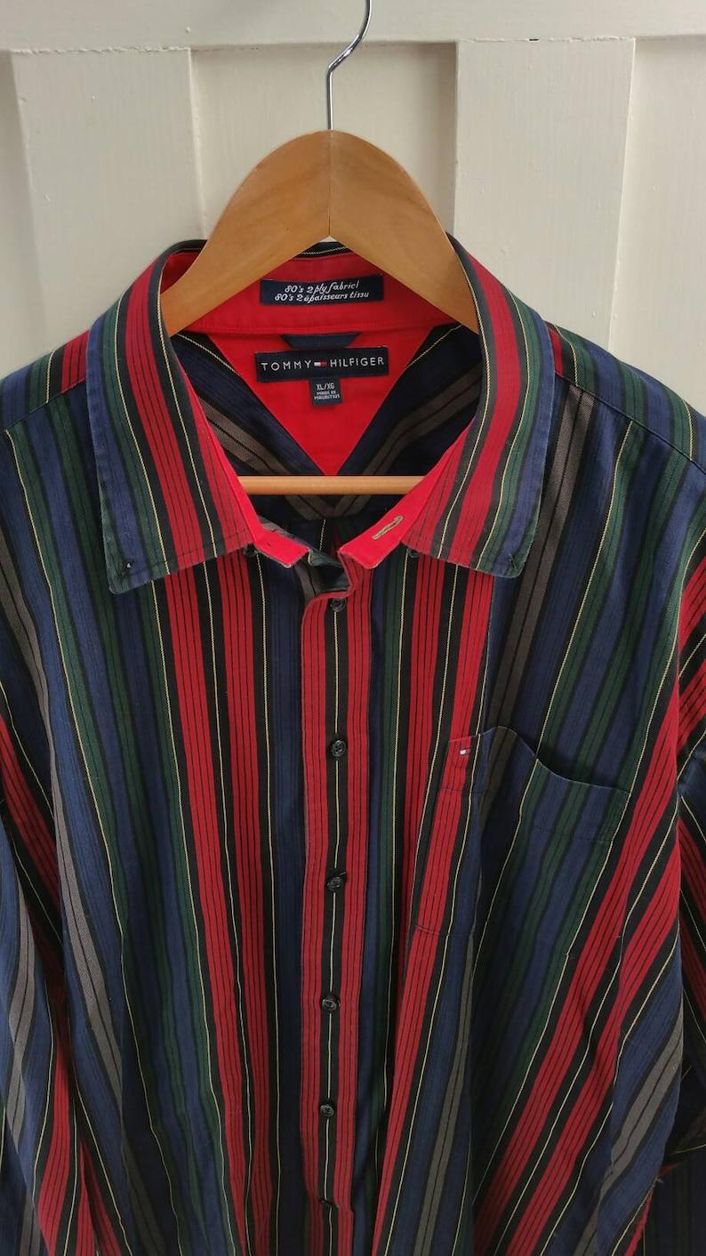1a073e2e Vintage Tommy Hilfiger Long Sleeve 80's 2 Ply Fabric Shirt   Etsy