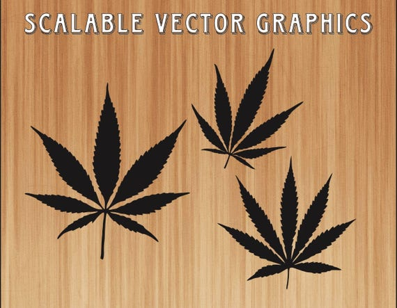 Hemp Leaf Svg Marijuana Leaf Cut File Hemp Leaf Svg Pot Etsy