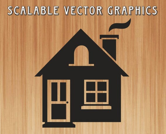 Cabin Silhouette Svg House Clipart House Svg Cut File House Etsy