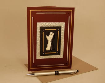 3D Greeting Card, 3D Art Card, 3D Silhouette Card -- Keyhole Card 6