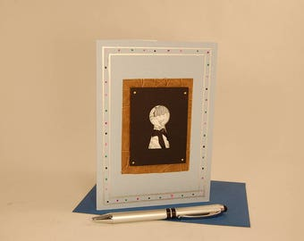 3D Greeting Card, 3D Art Card, 3D Silhouette Card -- Keyhole Card 2