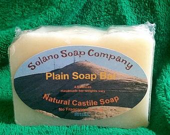 Plain Unscented Soap Bar
