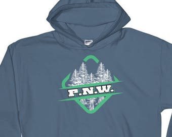 PNW - Pacific Northwest - Pacific North West - PNW Pride -Oregon -Washington -Idaho - PNW  Shirt -Mountains -Trees -Forest -Hiking -Outdoors