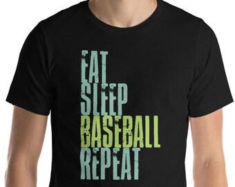 eat - sleep - baseball - repeat - eat sleep - baseball shirt - baseball tee - baseball gift - eat sleep shirt - baseball lover