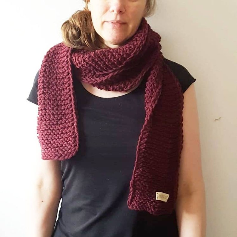 Chunky scarve scarf long handmade scarve knitted scarf image 0
