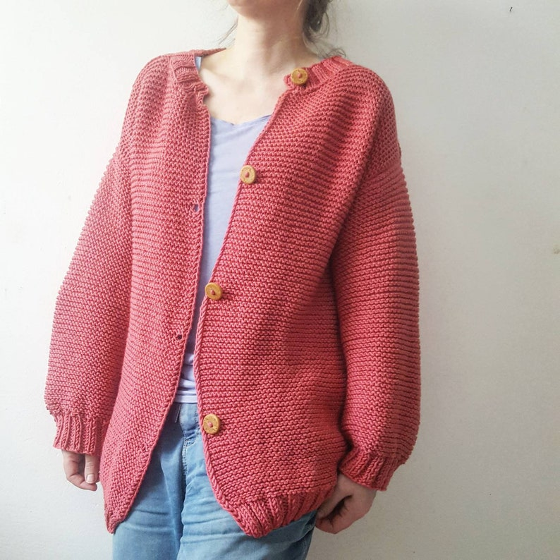 Chunky cardigan slouchy cardigan knitgifts simple knit big image 0
