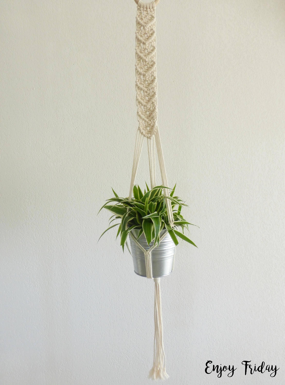 grande suspension pour plante en macram etsy. Black Bedroom Furniture Sets. Home Design Ideas