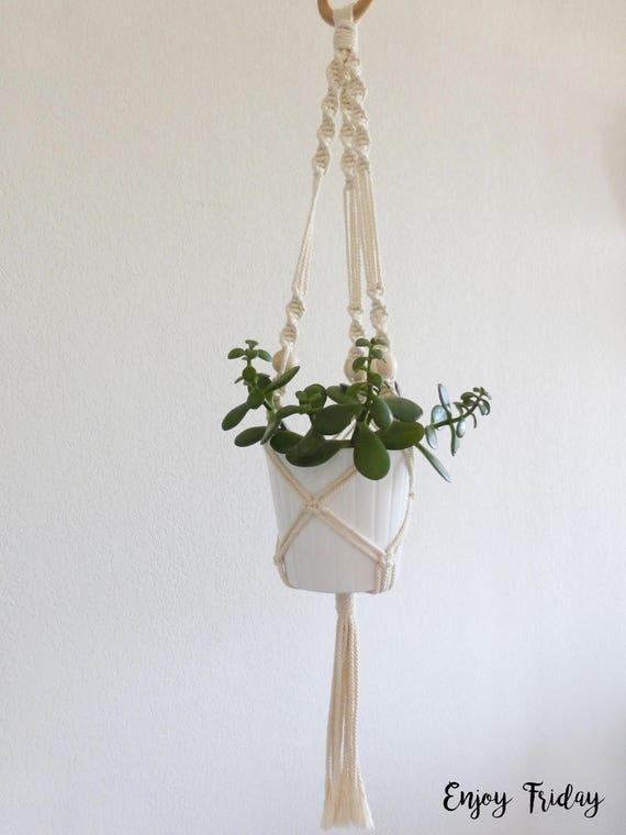 suspension pour plante en macram etsy. Black Bedroom Furniture Sets. Home Design Ideas