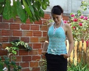 Pacific: crochet halter top