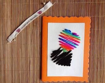 Greeting card: Rainbow heart