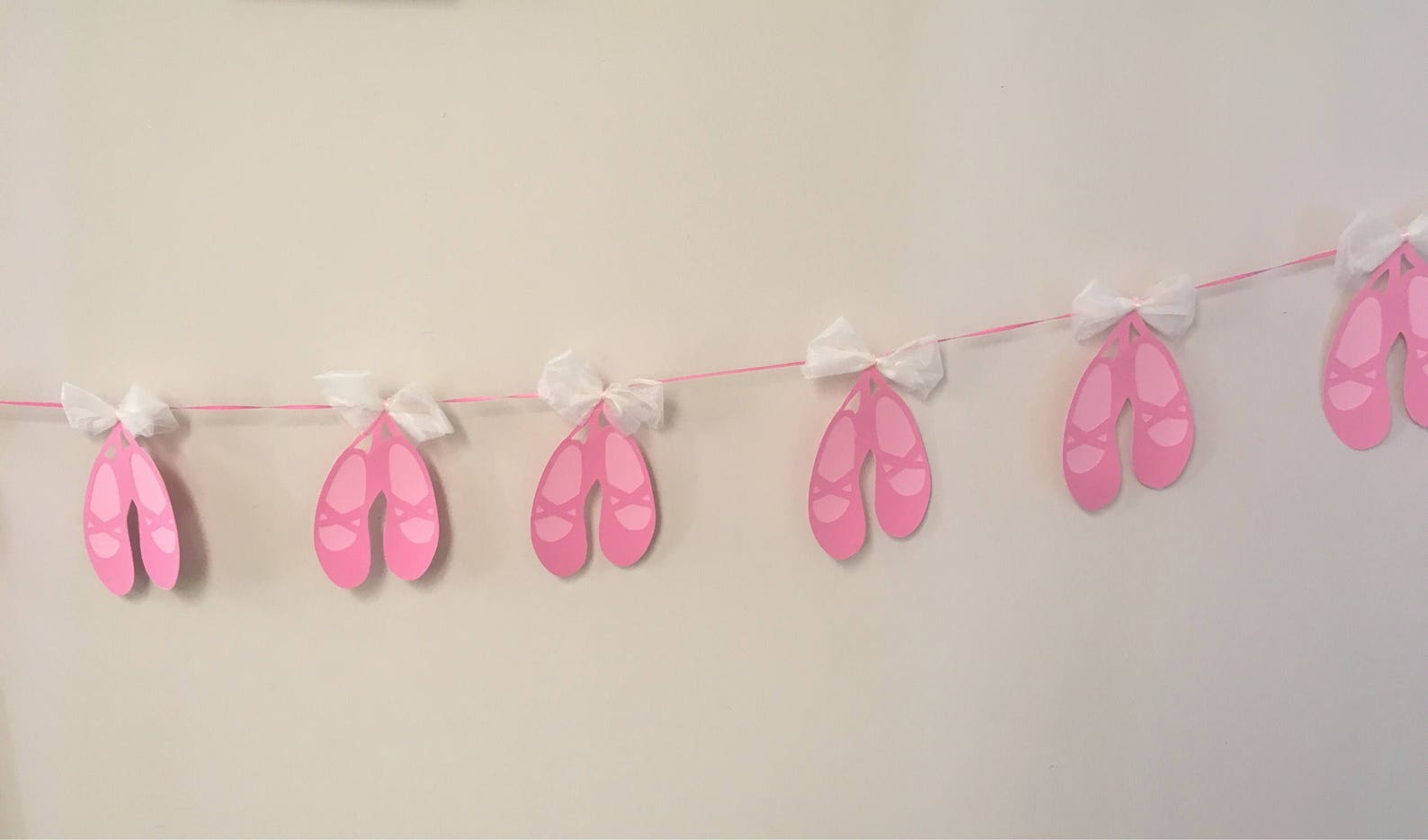 ballerina slipper banner ballet dancer shoes birthday party photo cake smash photography sign dancer tutu bow dancing dainty mus