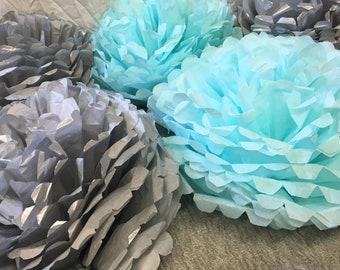 Tissue, Paper, Pouf, poufs, pom pom, poms, Paper, pompoms, birthday, party, flower, baby, shower, cake smash, photo, shoot, backdrop, decor