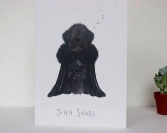 John Snore Card