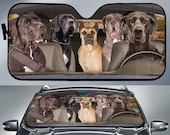 Great Dane Dogs 5 Auto Sun Shade, Dog Design, Car Sun Shade, Car Decor, Custom Print, Car Accessories, Guardian Dogs, Apollo of Dogs, Puppy