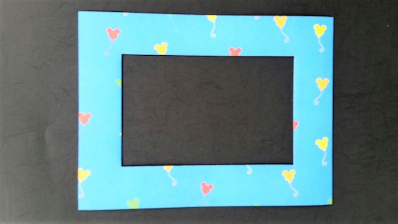 Mickey Mouse Balloons Magnetic Refrigerator Photo Frame Etsy