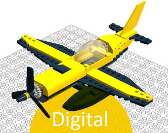 Cool gift for boys Lego birthday gift for kids instruction for child play Gift lego Airplane for boys instruction plane Lego fans aircraft