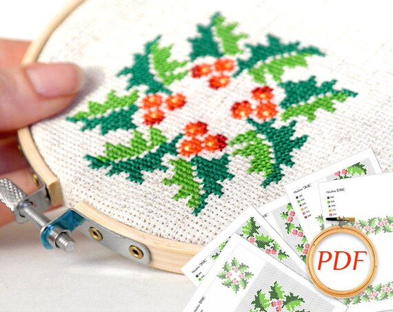 Hand Embroidery Christmas Cross Stitch Patterns For Kitchen Etsy
