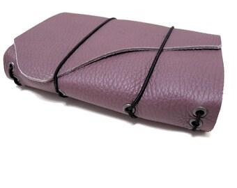 Journal rustique carnet de voyage en cuir véritable poche Trifolio «Huckleberry», unique en son genre