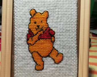 Sweet hand-made embroidery with Winni pooh motif
