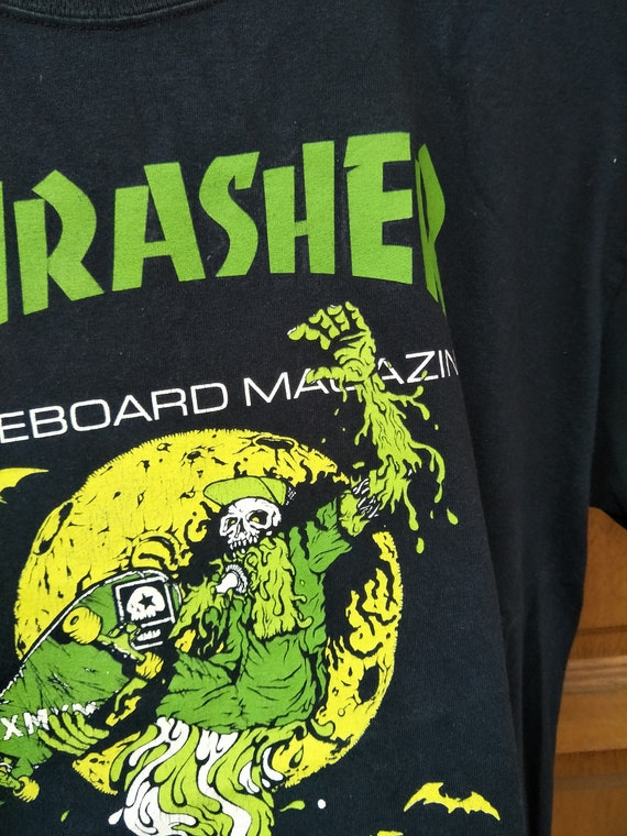 x Mosh Skateboard L Size Thrasher Vintage 90s 90s kids promo MxMxM Magazine Misfits Pushead Magical f0UxBxn