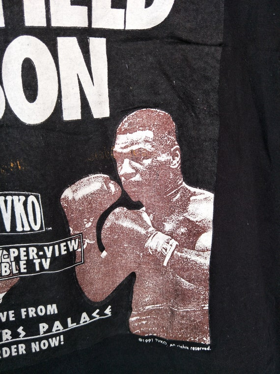 Phil Epic Mike The 90s Rare Tyson as Fight by Usa worn T Made In Anselmo Boxing Evander Very In Vs Holyfield Shirt Vintage world UqFdcqW8C