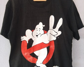 Vintage 90s Ghostbusters Horror Movie / Columbia Pictures Ind / Comedy Film / Size L Made In Usa
