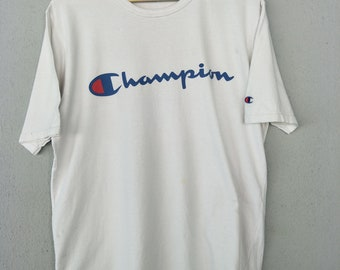 Champion tshirt for Streetwear Big logo Spell Out suitable for swag 90's kid hip hop