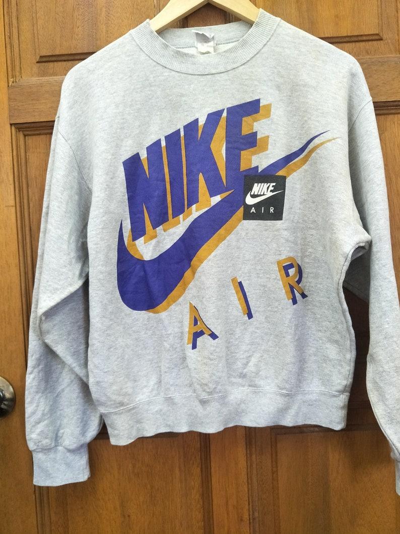 fc1e5ed95be Vintage 90s NIKE Pullover Sweatshirt Big Swoosh / Big Logo / | Etsy