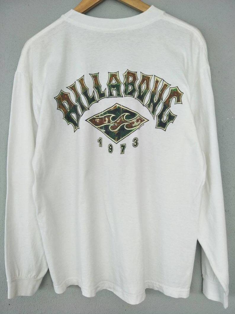 a905b69b23 Vintage Long Sleeve Surfing T Shirt Billabong Brand Surfing Style /  Streetwear / High Fashion / Made In USA Size L