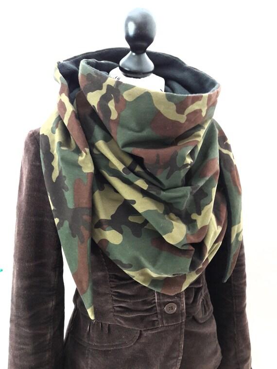 Chèche vert marron doublé polaire noir foulard châle écharpe   Etsy 4a027bf3633