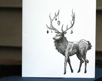 Nightmare Stag Holiday Card