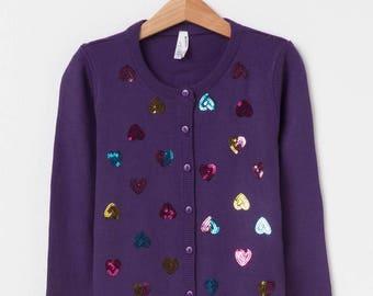 Girls cardigan, Baby Girls Heart Cardigan, Girls Sweater