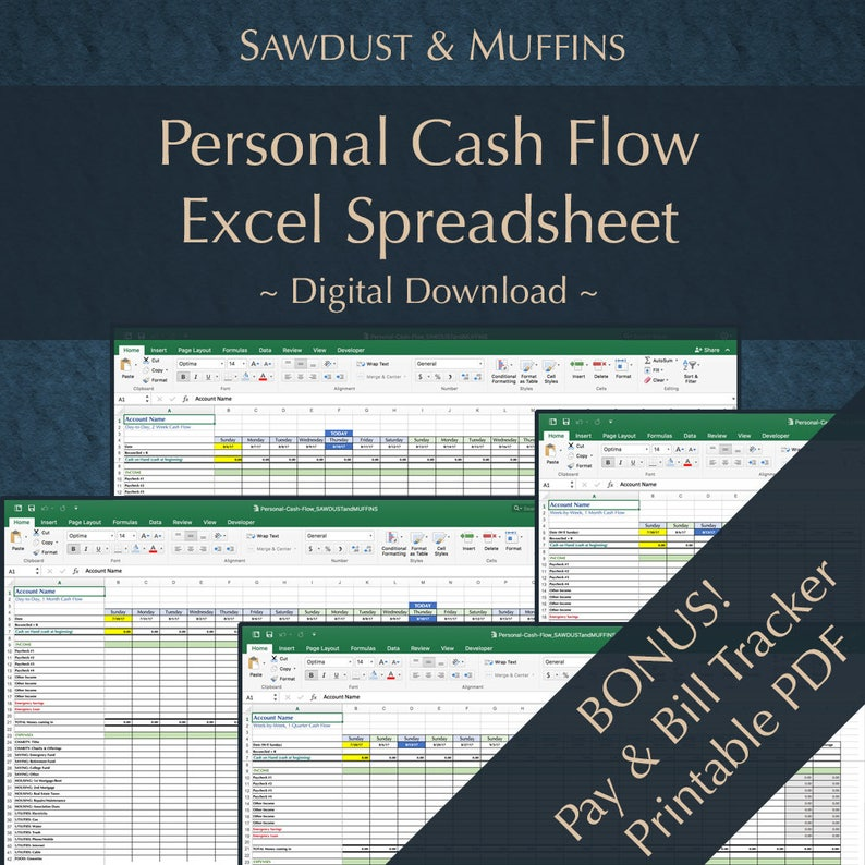 Personal Finance / Cash Tracker / Excel Spreadsheet / Dave Ramsey / Money  Management / Budget Planner / Expense Tracker / BONUS Printable
