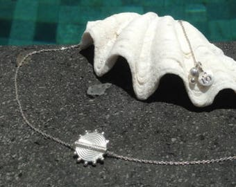 Sun necklace - Sterling Silver 925 - Sunshine Collection